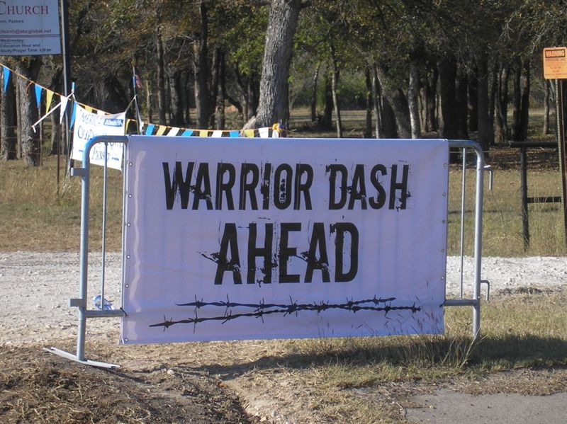 Warrior Dash sign